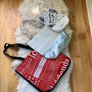 Set of 3 bags, lululemon & athleta